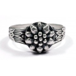 WWII German Edelweiss silver ring
