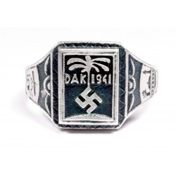 AFRICA CORPS WW2 GERMAN SILVER RING