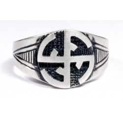 WWI German SS silver ring