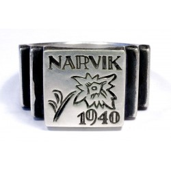 NARVIK SILVER GERMAN NORWAY RING WWII