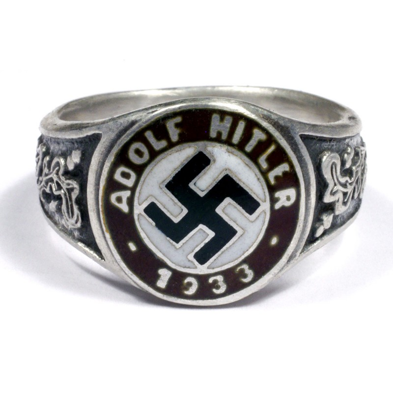 WWII German silver Political and civil rings for sale.