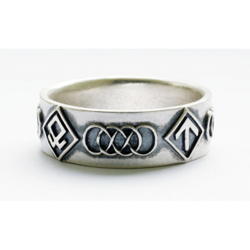 wwii german silver waffen units rings for sale