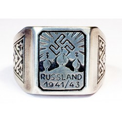 German WW2 Army Foreign RUSSIAN Volunteer silver ring