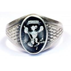 Nazi Criminal Police silver ring