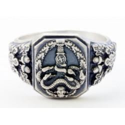 German ANTI PARTISAN Badge Silver ring