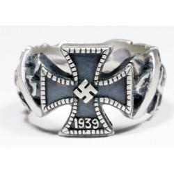 German knights cross silver ring