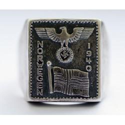 German Norwegen 1940 silver ring