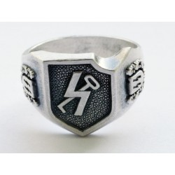 """12th SS Panzer Division """"Hitlerjugend"""" silver ring"""