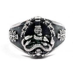 GERMAN ANTI PARTISAN Badge Silver RING.