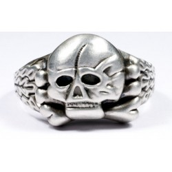 German WW II Silver Panzer Officer's Ring