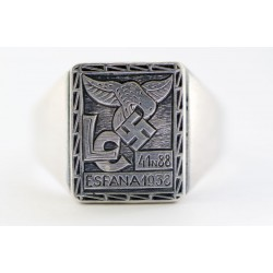 Spania blue divison silver ring
