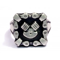Silver  sterling Men's Biker Ring