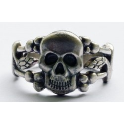 German Ring with Skull and Snakes
