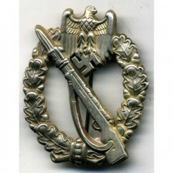 GERMAN ARMY INFANTRY ASSAULT BADGE IN SILVER