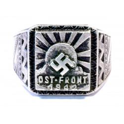 World War II - Ostfront Wehrmacht solders silver ring