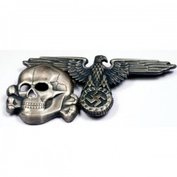 Eagle and skull from SS cap.