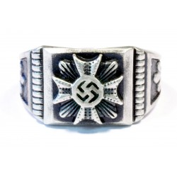 German WW2 Silver Iron Cross Ring
