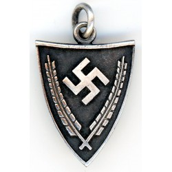 WWII GERMAN NAZI SWASTIKA PENDANT  IN SILVER