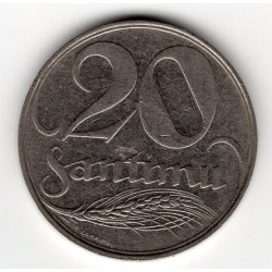 Latvia coin 20 Santimu 1922