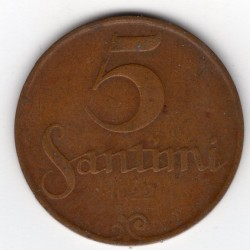 Latvia coin 5 Santimu 1922-1923
