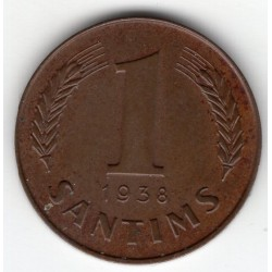 Latvia coin 1 Santims 1938