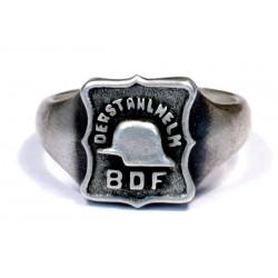 German WWII silver Der Stahlhelm ring