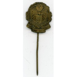 The stickpin of the  Latvia existence 5-year anniversary