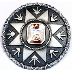 Brooche with the Latvian national symbols in the centerpiece