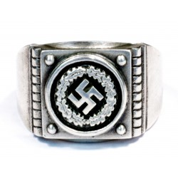 German WW2 Silver Ring with Swastika