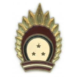 Latvian national guard`s parade and daily hat`s cockade