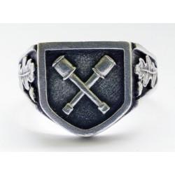 German Dirlewange silver ring