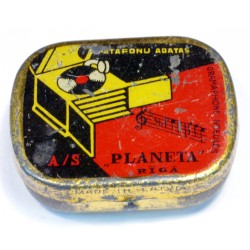 Latvian Phonograph Needle Tin - Planeta