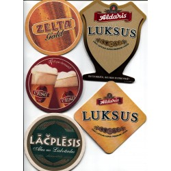 6 Latvian beer coasters