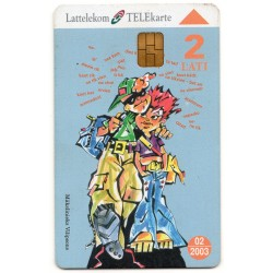 Latvian phone card Lattelekom School 3