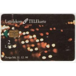 Latvian phone card Lattelekom Meta Systems, alien