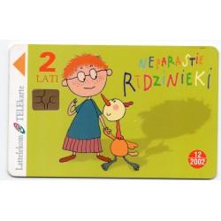 Latvian phone card (Lattelekom) 12/2002