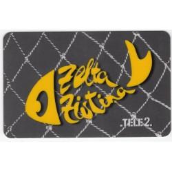 Latvian prepaid telephone  calling card  TELE 2 Zelta Zivtiņa