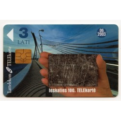 Latvian prepaid calling card Lattelekom TELEkarte 3 Lati