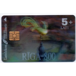 Latvian prepaid calling card Lattelekom TELEkarte 5+ Lati