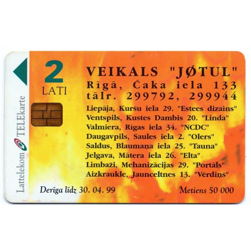 Latvian Prepaid Calling Card Lattelekom For Sale