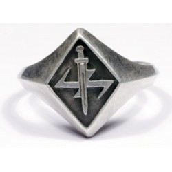 WW II German Ring with Runes and Sword