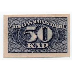 Latvia 50 KAPEIKAS from  1920 Banknote P- 12a