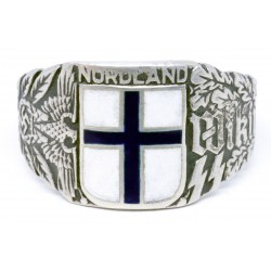 WW2 Finnish Wiking Nordland Division Volunteers Silver Ring