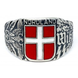 WW2 Danish Wiking Nordland Division Volunteers Silver Ring