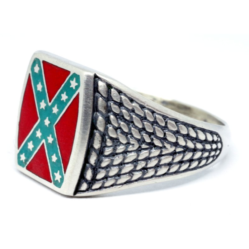 Confederate rebel flag ring for sale for Rebel designs jewelry sale