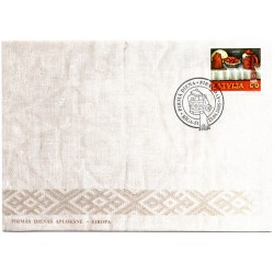 Latvian First Day Cover Eiropa(Europa)