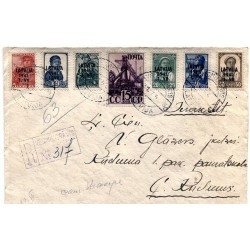 Registered Latvian cover with stamps