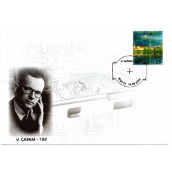 Latvian First Day Cover V.Capam-100