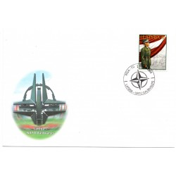 Latvian First Day Cover NATO