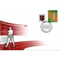 Latvian First Day Cover - Jānim Dālinam 100